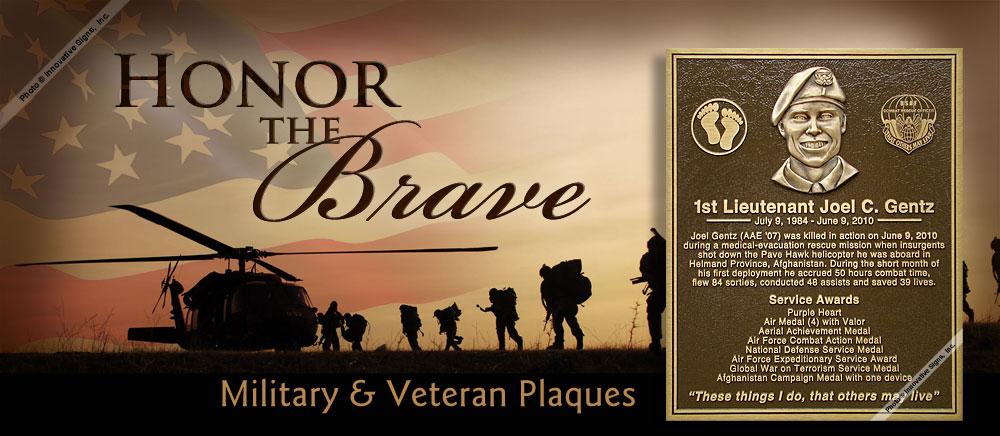 Military Plaques - Veteran Plaques - Dedication Plaques ...