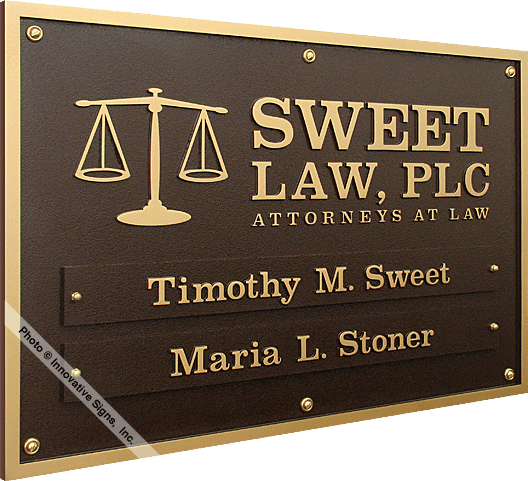 Sweet_Plaque_DuraBronze™_Attorney_Sign