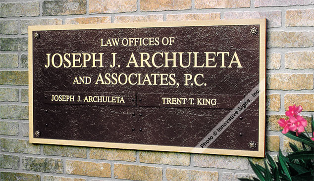 Archuleta_Plaque_Cast_Bronze_Law_Sign