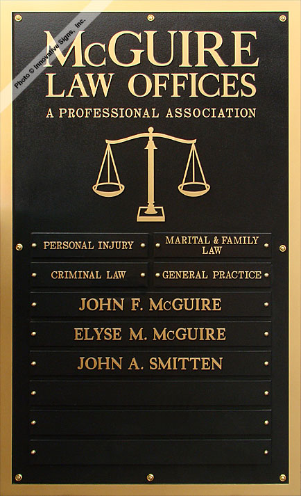 McGuire_Plaque_DuraBronze™_Lawyer_Sign