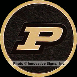 Purdue_P_Plaque_Cast_Bronze_Educational_Institution_Plaque
