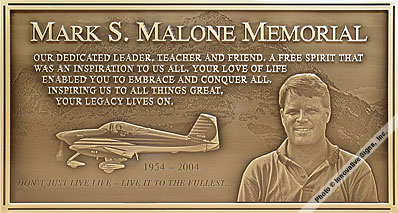 Malone_Plaque_Engraved_Bronze_Memorial_Plaque