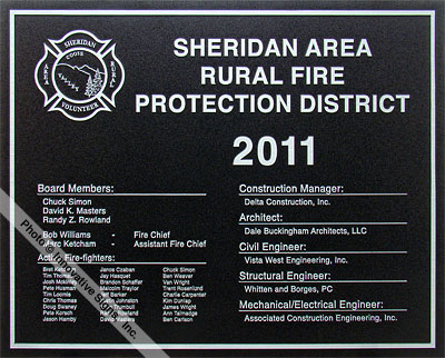Sheridan_Fire_Plaque_Etched_Zinc_Government_Facility_Plaque