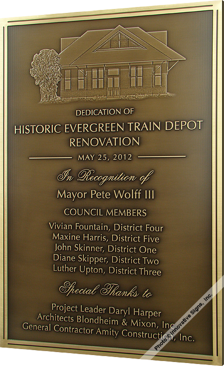 Evergreen_Train_CU_Engraved_Bronze_Government_Facility_Plaque